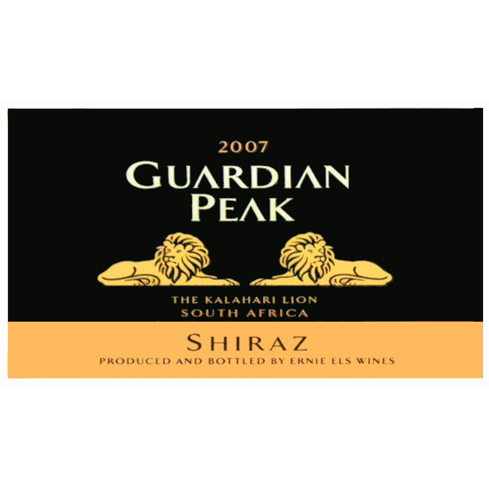 Guardian Peak Shiraz 2007 Front Label