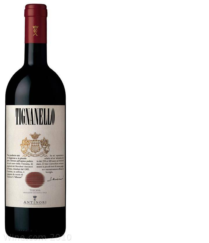 Antinori Tignanello 2006 Front Label