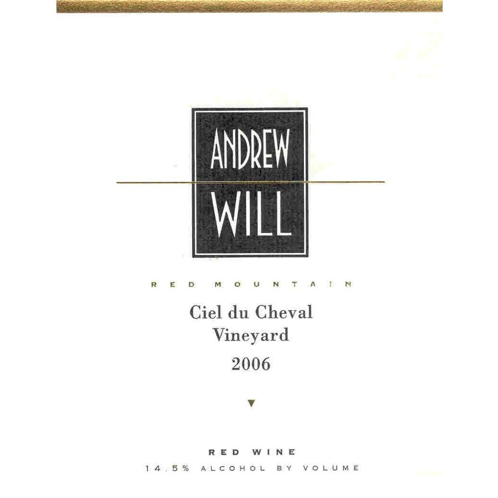 Andrew Will Winery Ciel du Cheval 2006 Front Label