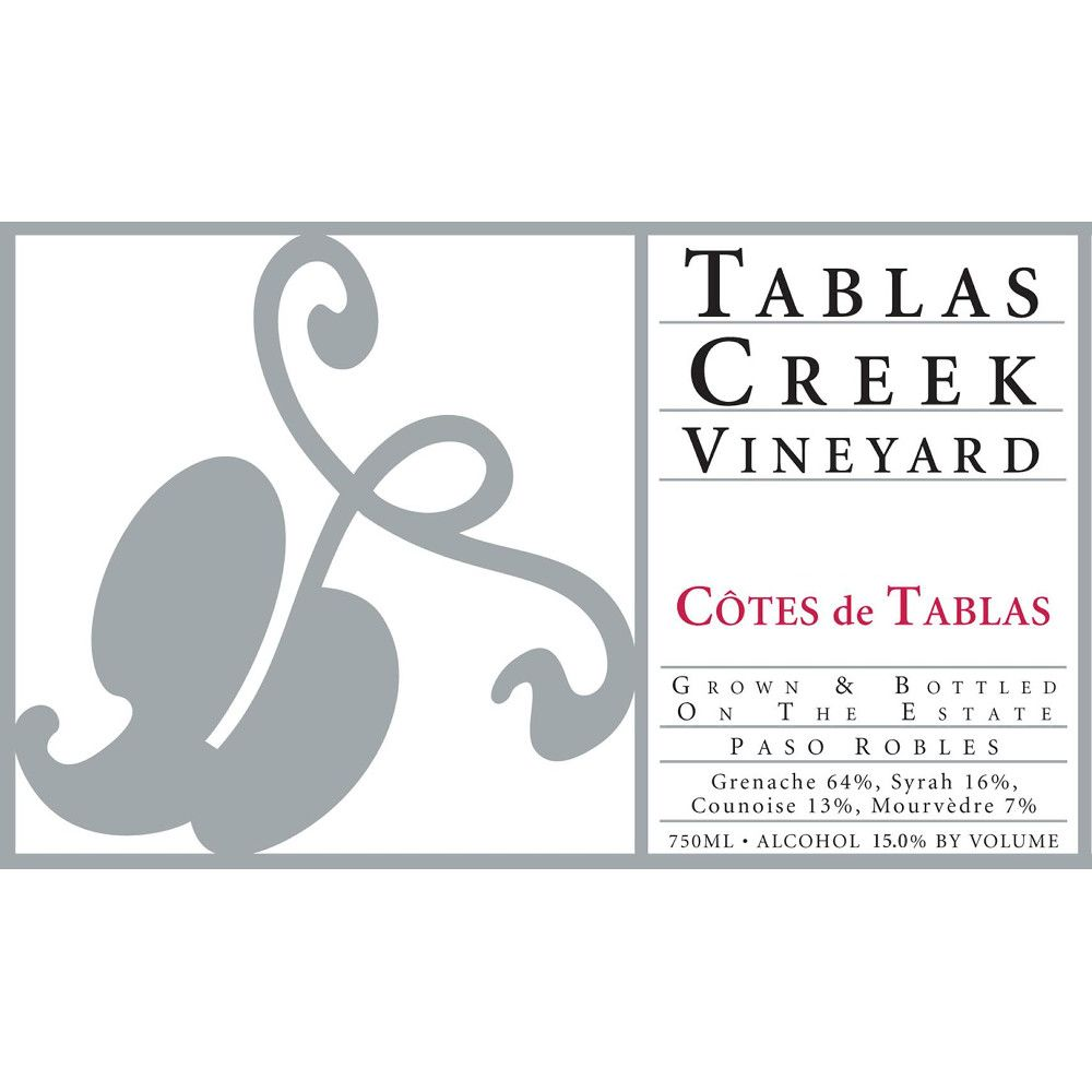 Tablas Creek Cotes de Tablas Rouge 2007 Front Label