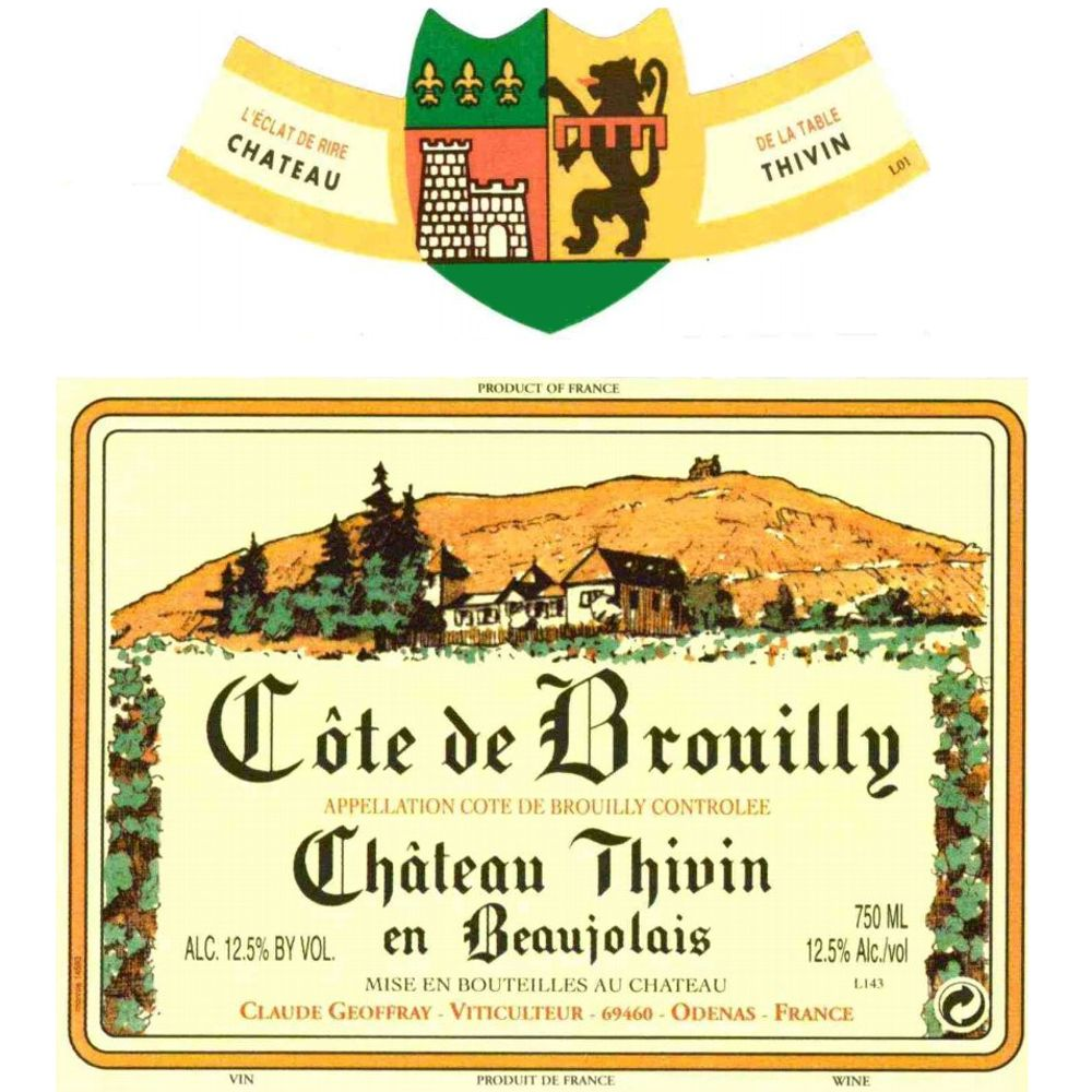 Chateau Thivin Cote de Brouilly 2006 Front Label