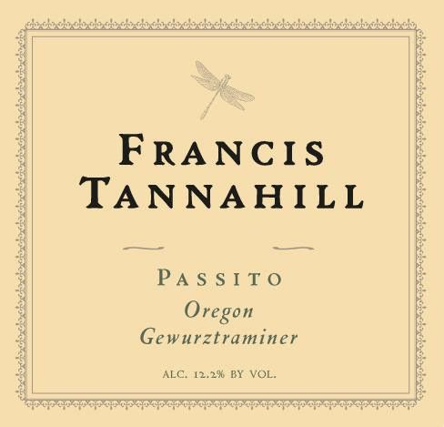 Francis Tannahill Passito Gewurztraminer 2008 Front Label