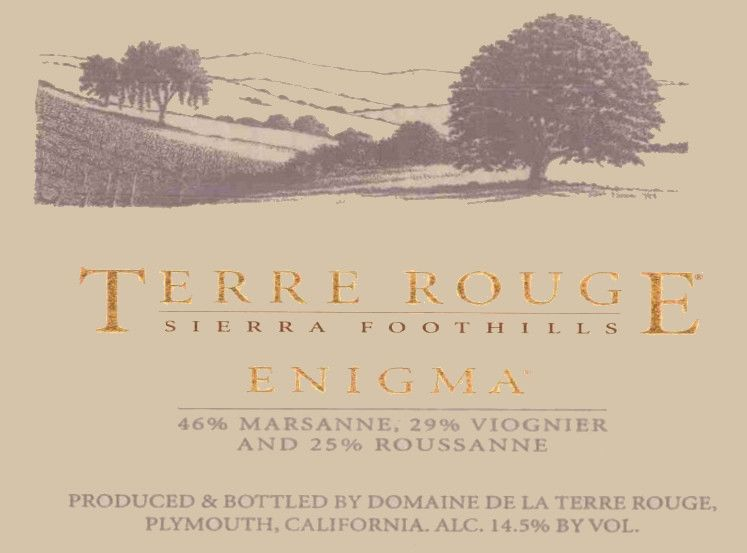 Terre Rouge Enigma 2002  Front Label