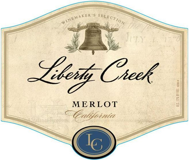 Liberty Creek Merlot  Front Label