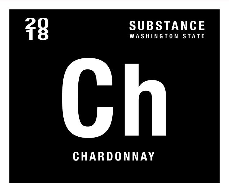 Substance Chardonnay 2018  Front Label