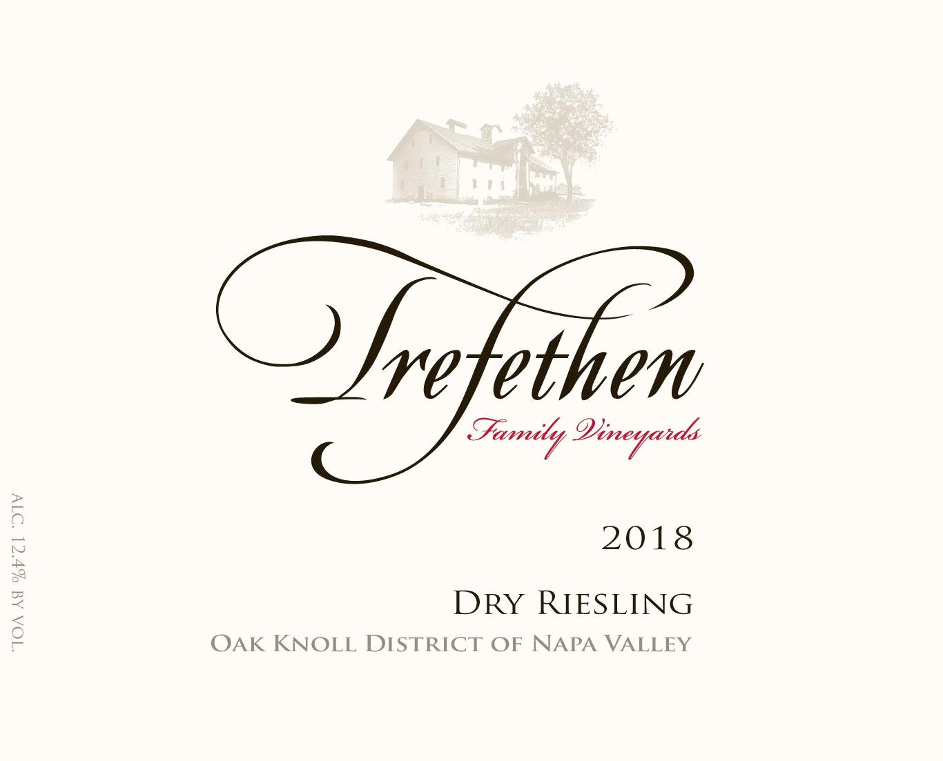 Trefethen Dry Riesling 2018 Front Label