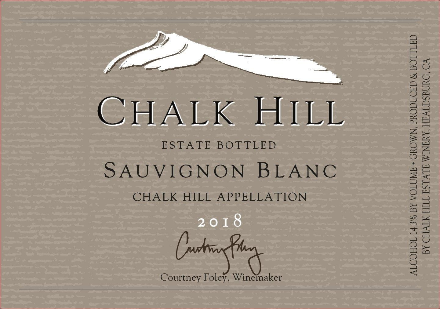 Chalk Hill Estate Sauvignon Blanc 2018  Front Label