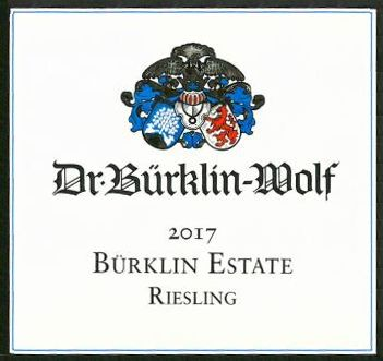 Burklin-Wolf Estate Riesling 2017 Front Label
