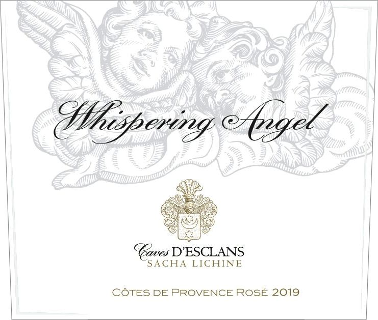 Chateau d'Esclans Whispering Angel Rose 2019  Front Label