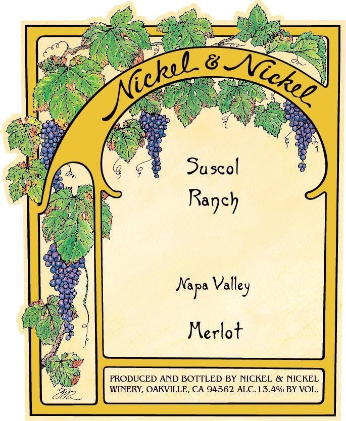 Nickel & Nickel Suscol Ranch Merlot 2016  Front Label