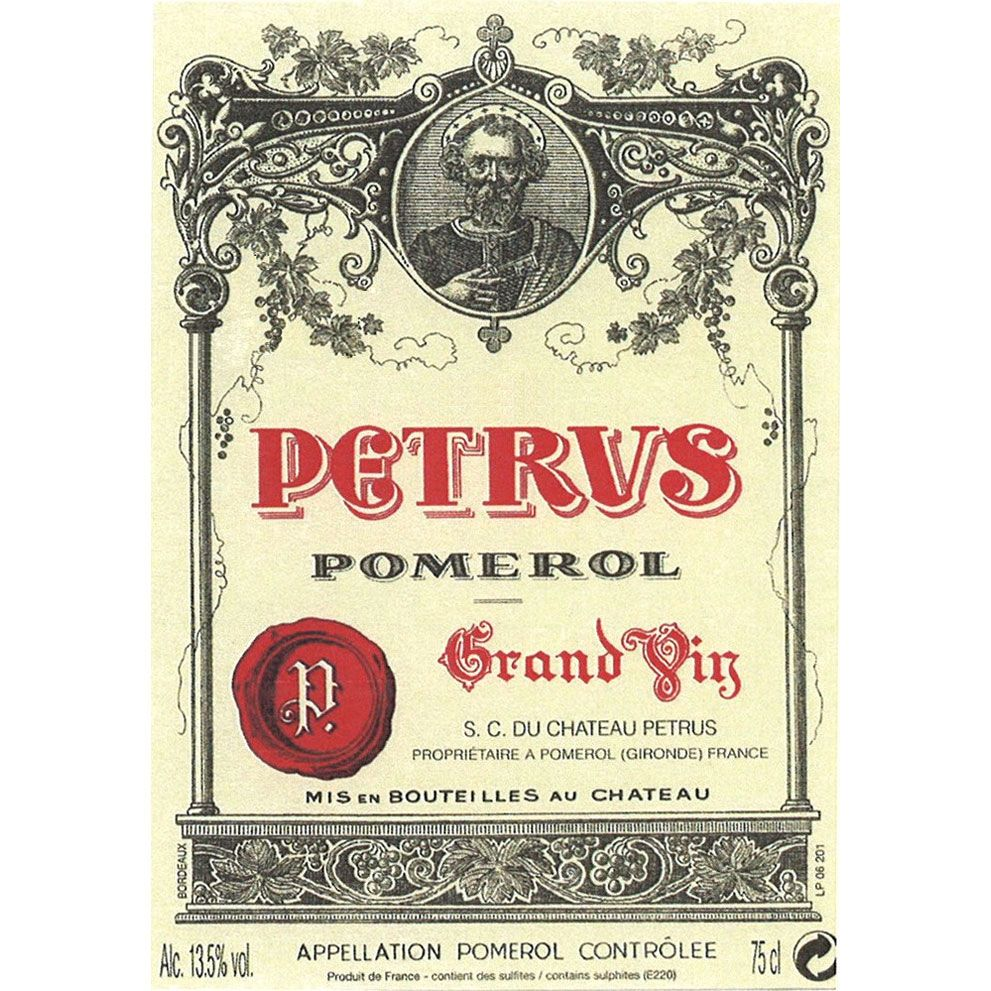Chateau Petrus (slightly stained label) 1998  Front Label