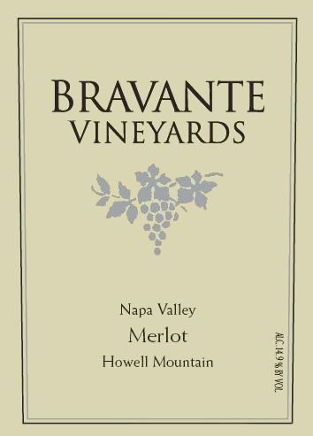 Bravante Vineyards Merlot 2007 Front Label