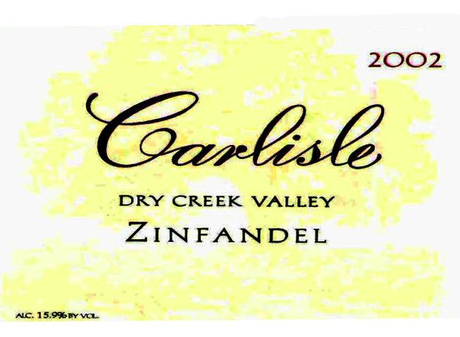 Carlisle Dry Creek Valley Zinfandel 2002 Front Label