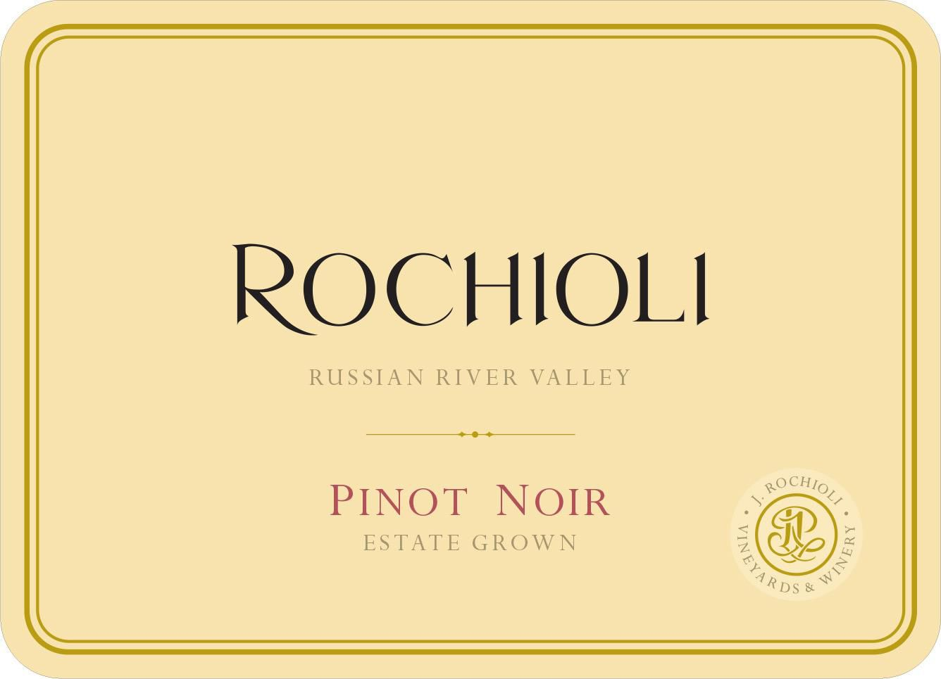Rochioli Estate Pinot Noir 2018  Front Label