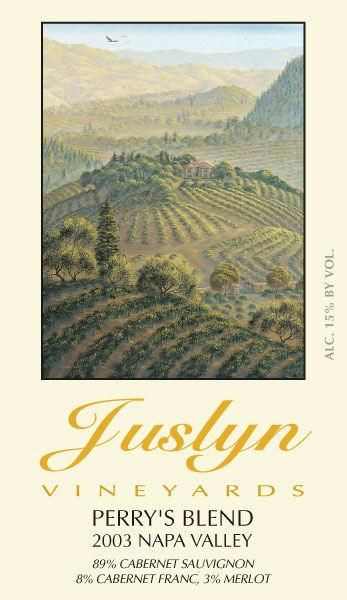 Juslyn Spring Mountain District Perry's Blend 2003  Front Label