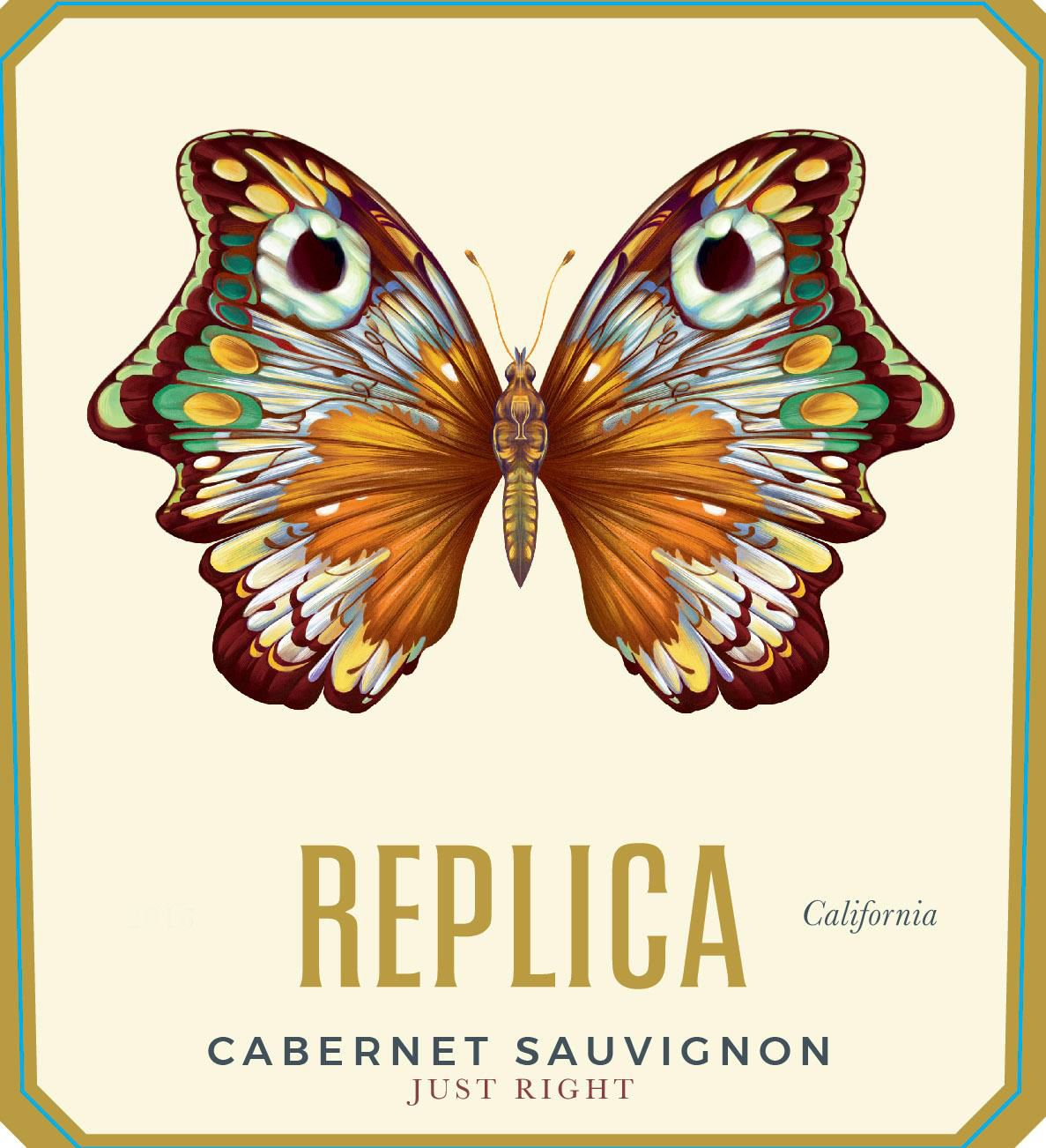 Replica Just Right Cabernet Sauvignon 2015 Front Label