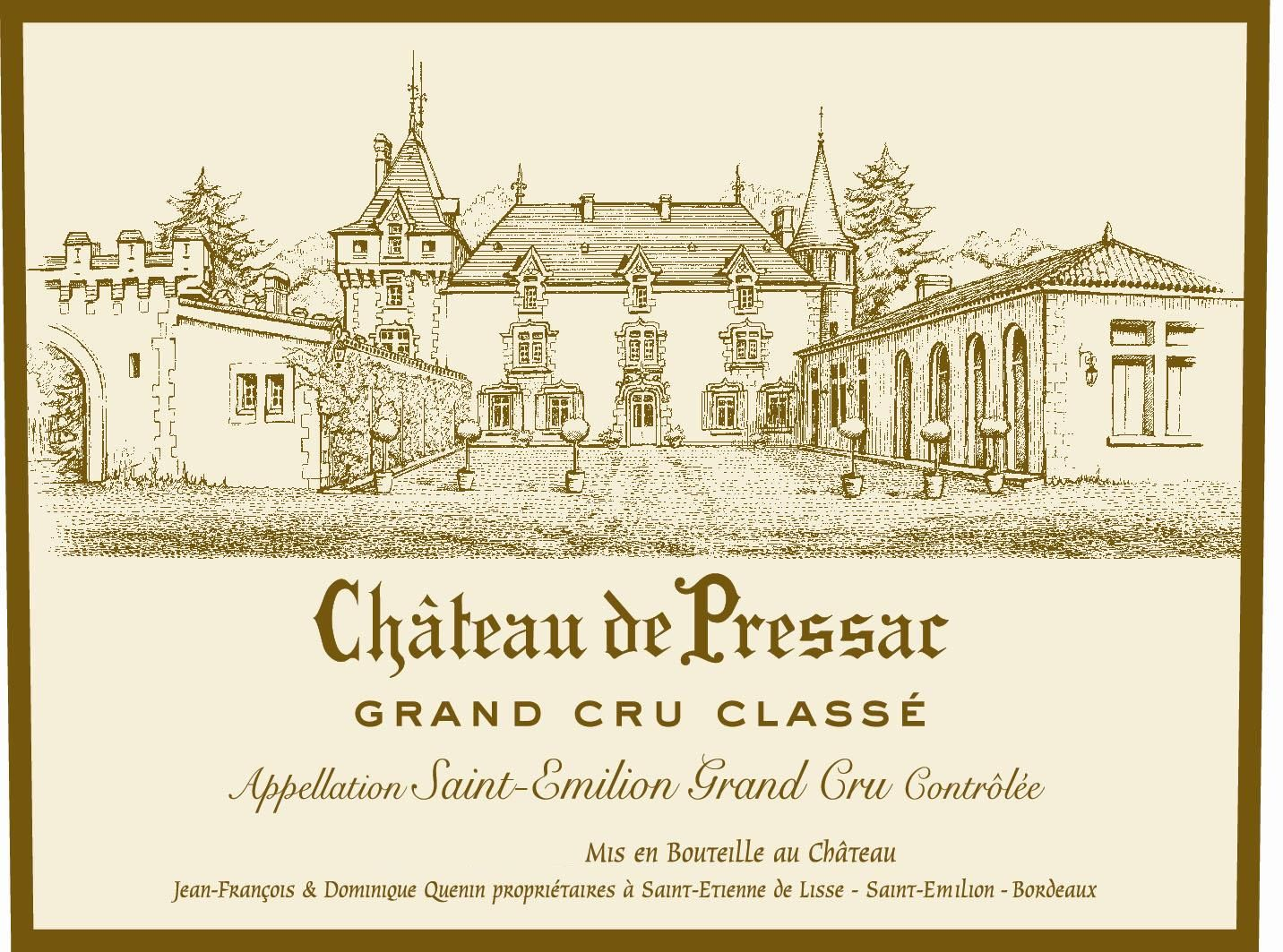 Chateau de Pressac (Futures Pre-Sale) 2018  Front Label