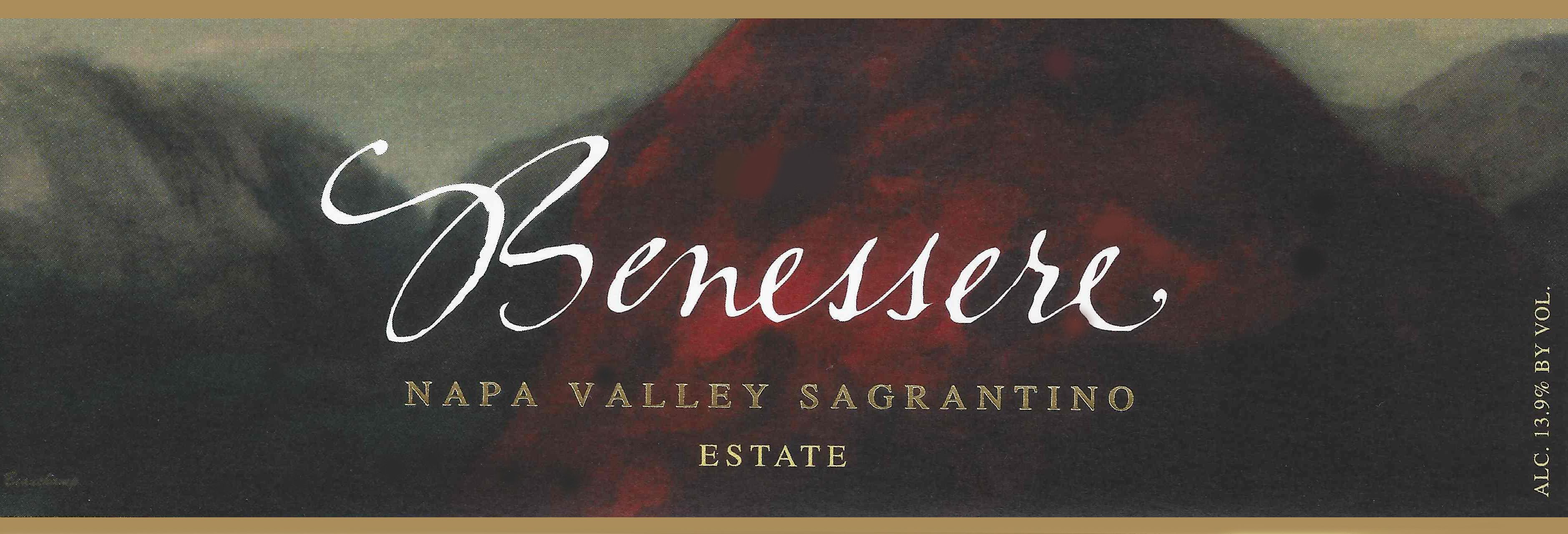 Benessere Estate Sagrantino 2011 Front Label