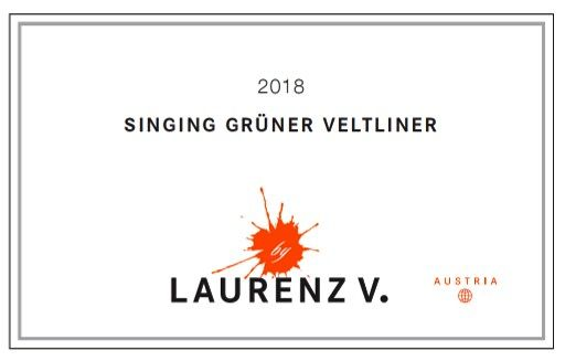 Laurenz V Singing Gruner Veltliner 2018  Front Label