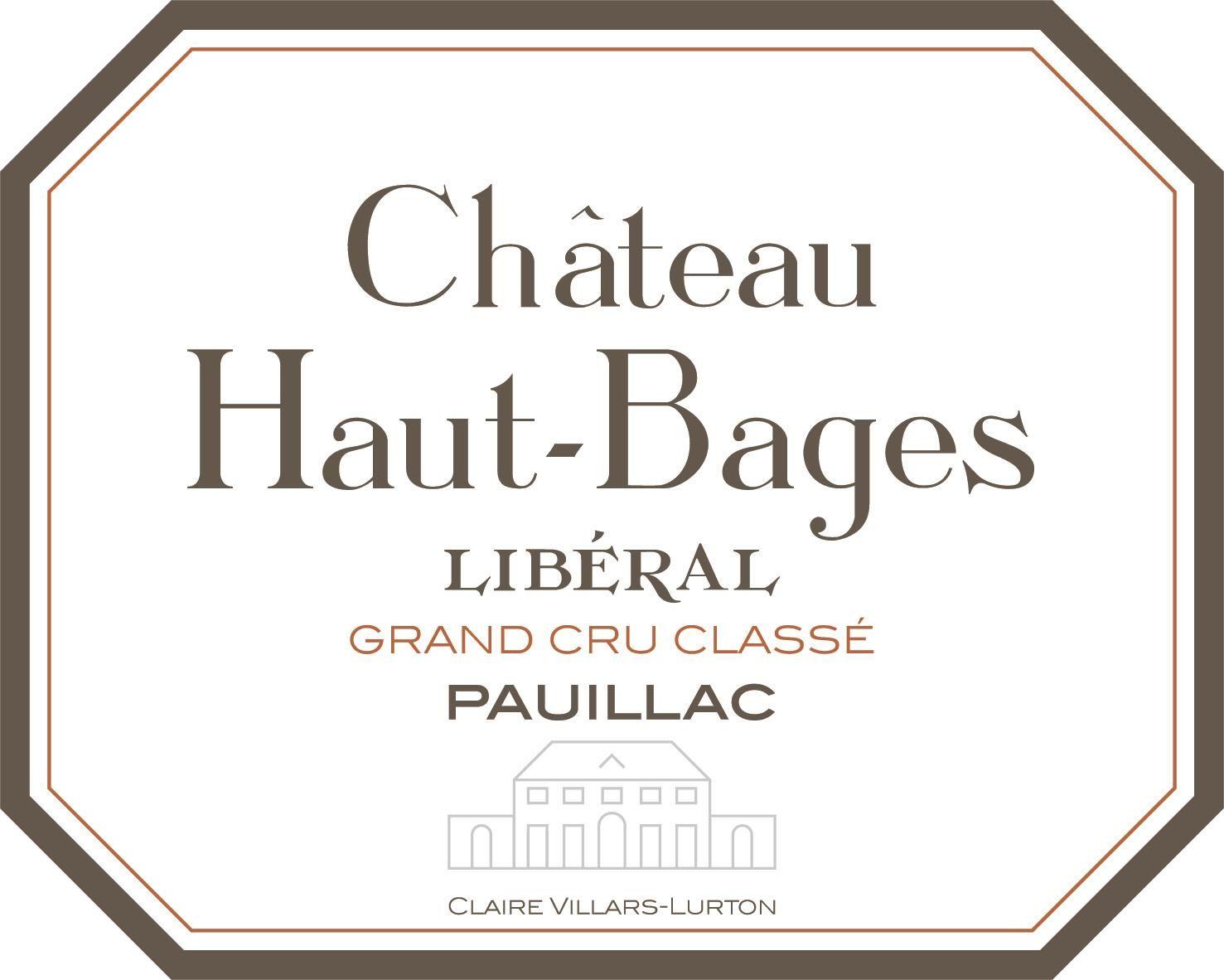 Chateau Haut-Bages Liberal (Futures Pre-Sale) 2019  Front Label