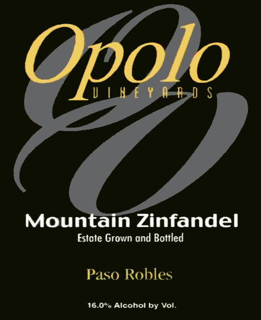 Opolo Mountain Zinfandel 2002 Front Label
