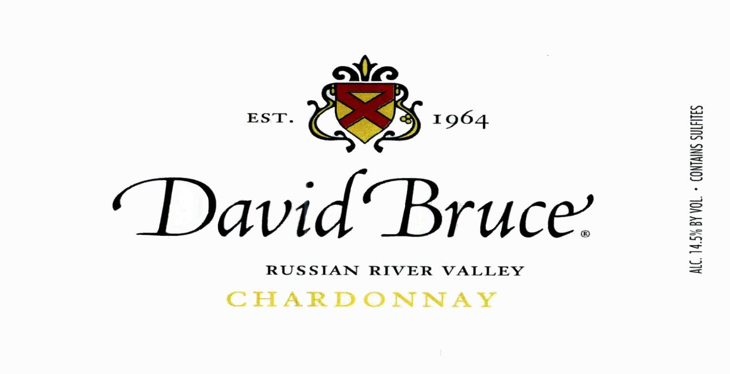 David Bruce Russian River Chardonnay 2016 Front Label