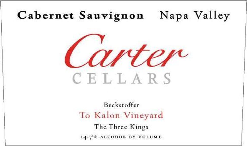 Carter Cellars Cabernet Sauvignon Beckstoffer To Kalon The Three Kings 2015  Front Label