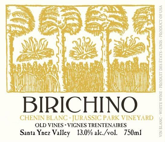 Birichino Jurassic Park Vineyard Old Vines Chenin Blanc 2015 Front Label