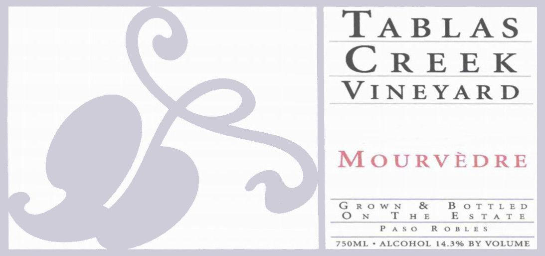 Tablas Creek Mourvedre 2004  Front Label