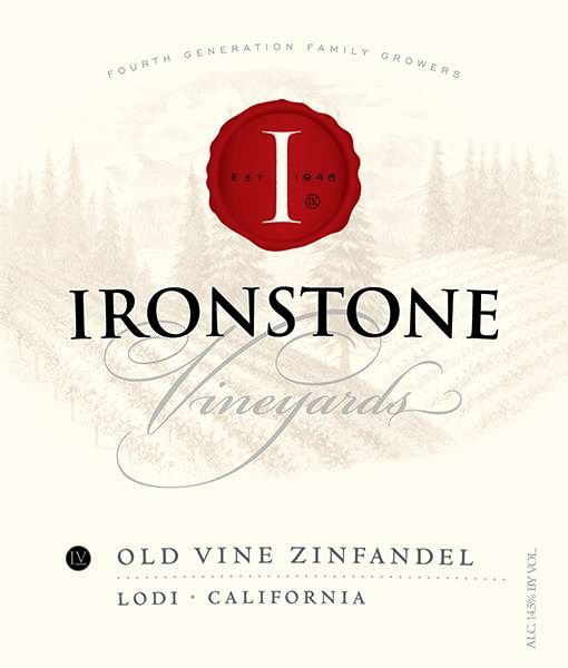 Ironstone Old Vine Zinfandel 2018  Front Label