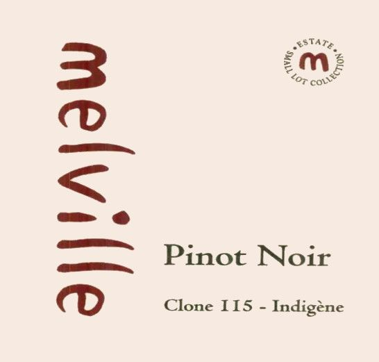 Melville Clone 115 Indigene Pinot Noir 2004 Front Label