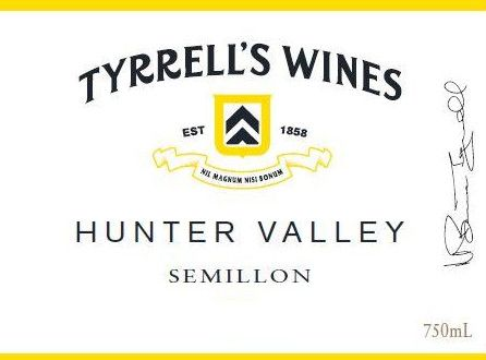 Tyrrell's Hunter Valley Semillon 2018  Front Label