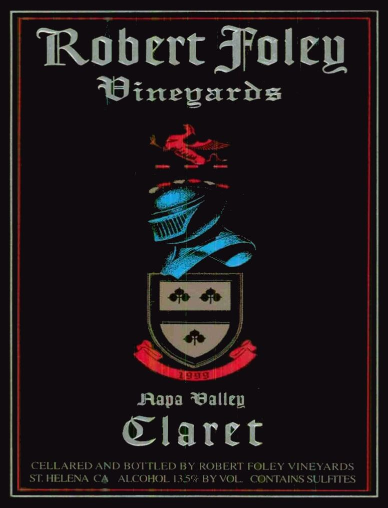 Robert Foley Vineyards Claret (3 Liter - signed) 1999  Front Label