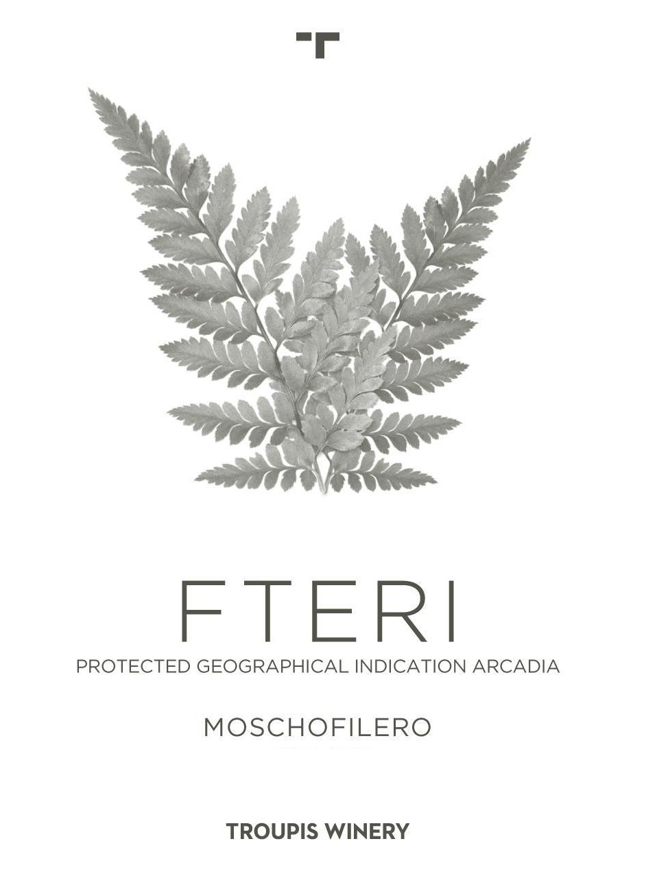 Troupis Winery Moschofilero Fteri 2018 Front Label