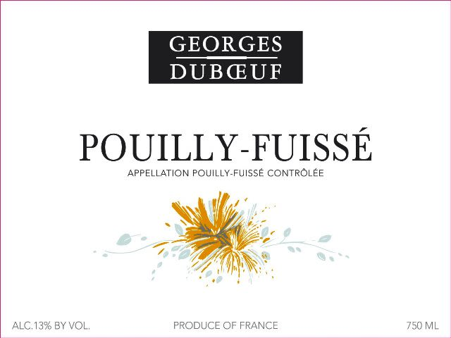 Duboeuf Pouilly-Fuisse 2018  Front Label