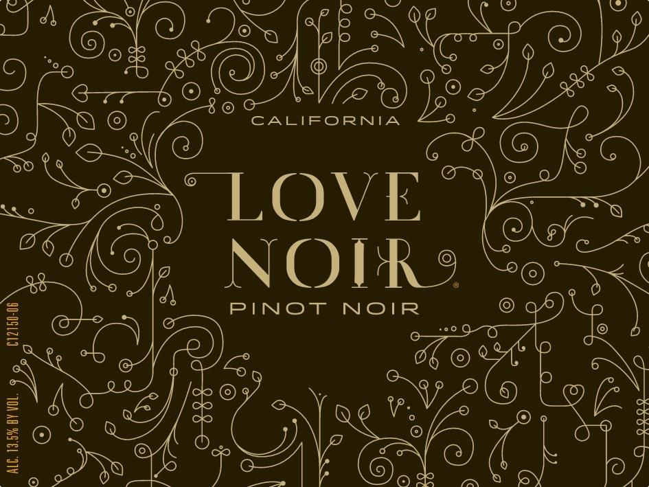 Love Noir Pinot Noir 2018  Front Label