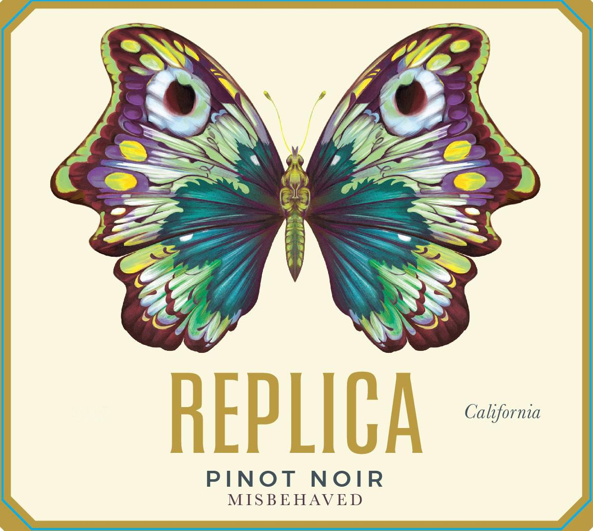 Replica Misbehaved Pinot Noir 2015 Front Label