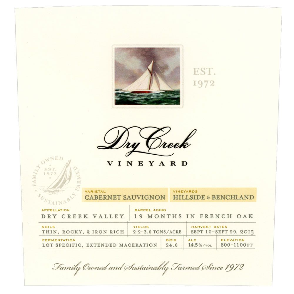 Dry Creek Vineyard Cabernet Sauvignon 2016  Front Label