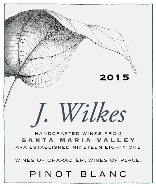 J Wilkes Pinot Blanc 2015 Front Label