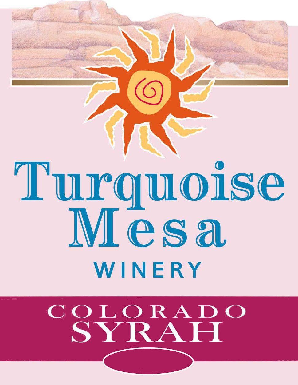 Turquoise Mesa Winery Syrah 2014 Front Label