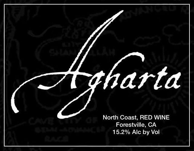 Agharta Black Label Red 2007 Front Label