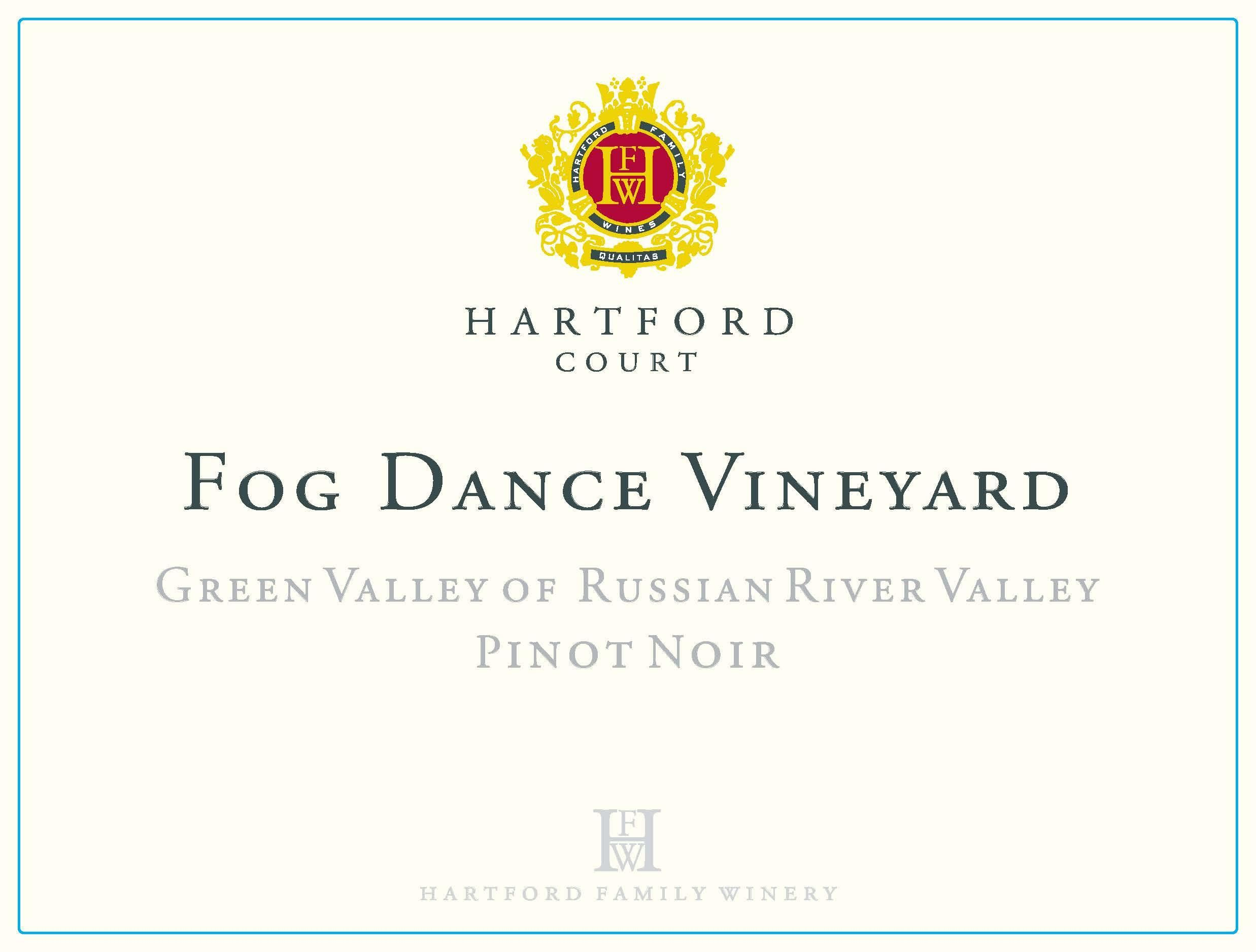 Hartford Court Fog Dance Pinot Noir 2016 Front Label