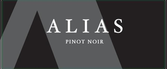 Alias Winery Pinot Noir 2019  Front Label
