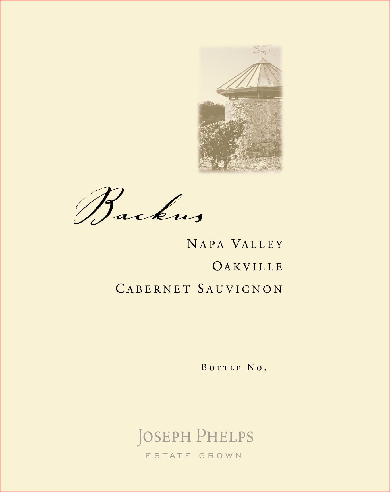 Joseph Phelps Backus Vineyard Cabernet Sauvignon 2001  Front Label