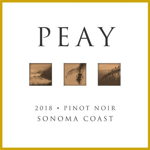 Peay Vineyards Sonoma Coast Pinot Noir 2018  Front Label