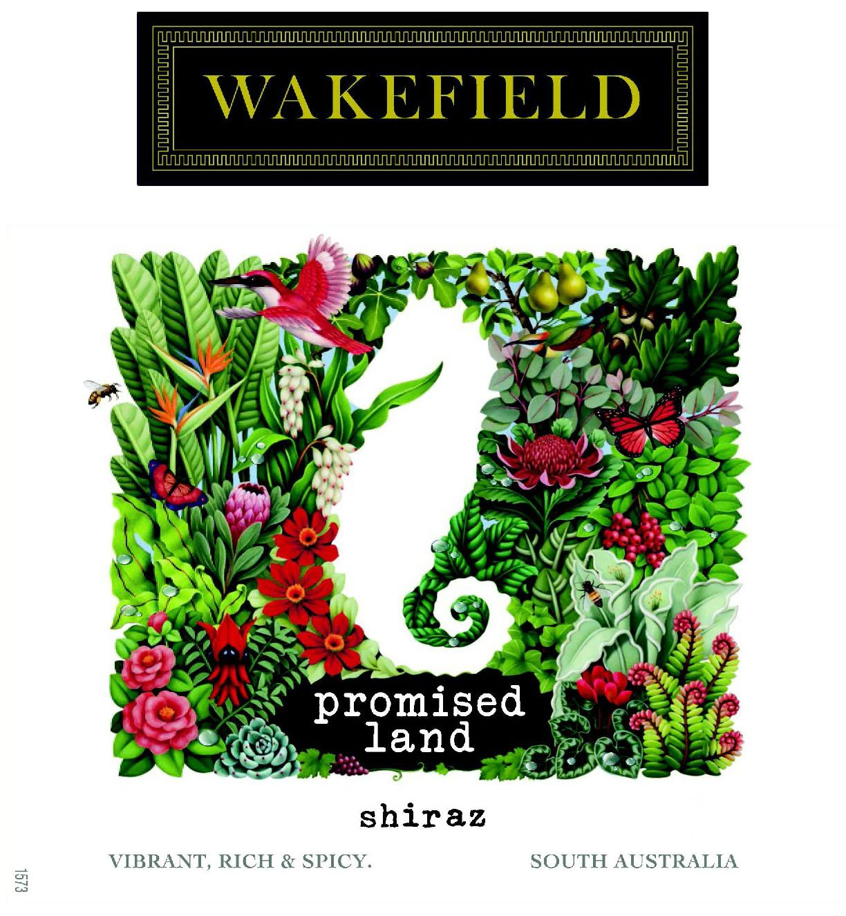Wakefield Promised Land Shiraz 2018  Front Label