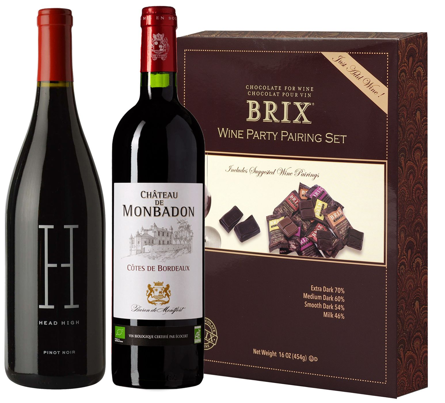wine.com 90+ Red Wine & BRIX Chocolate Tasting Set  Gift Product Image