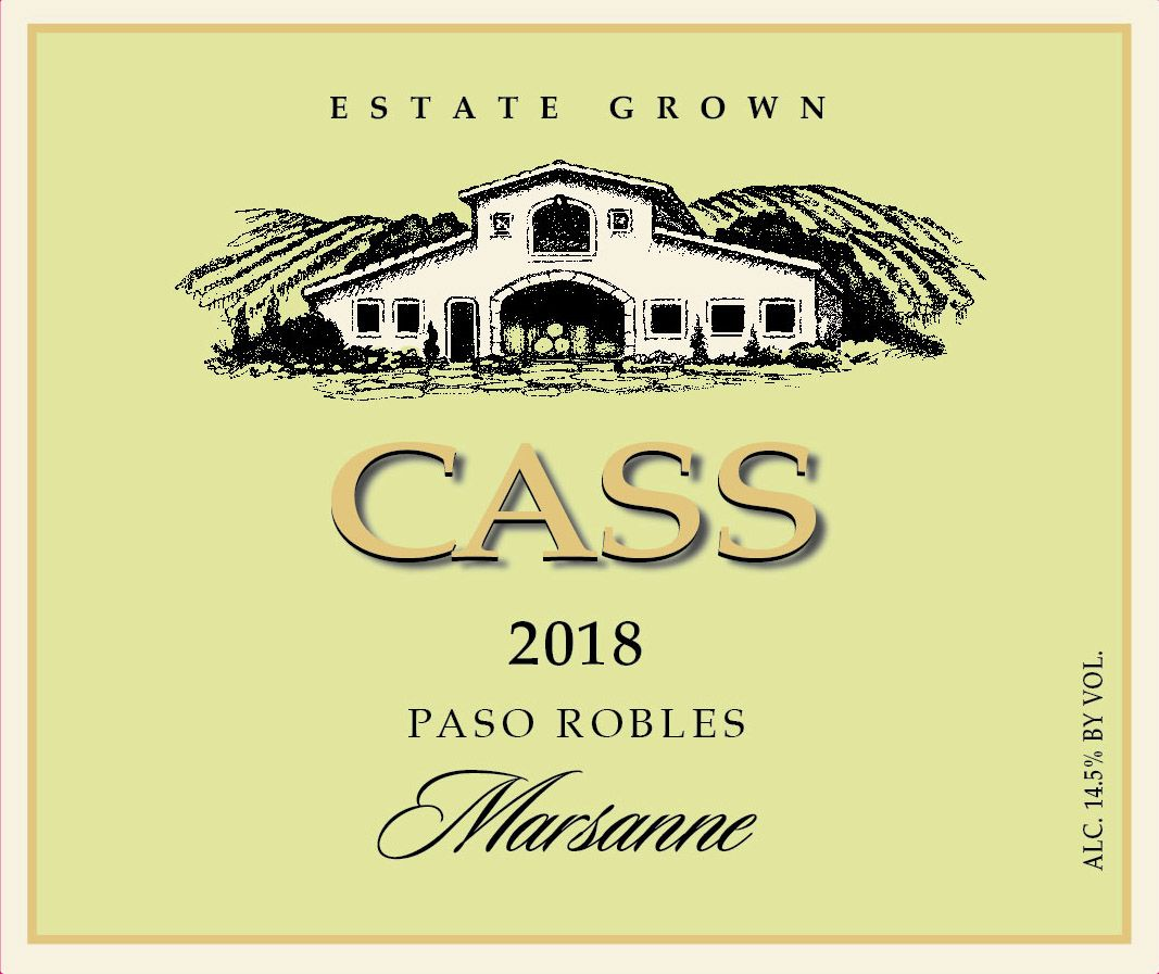 Cass Winery Marsanne 2018  Front Label