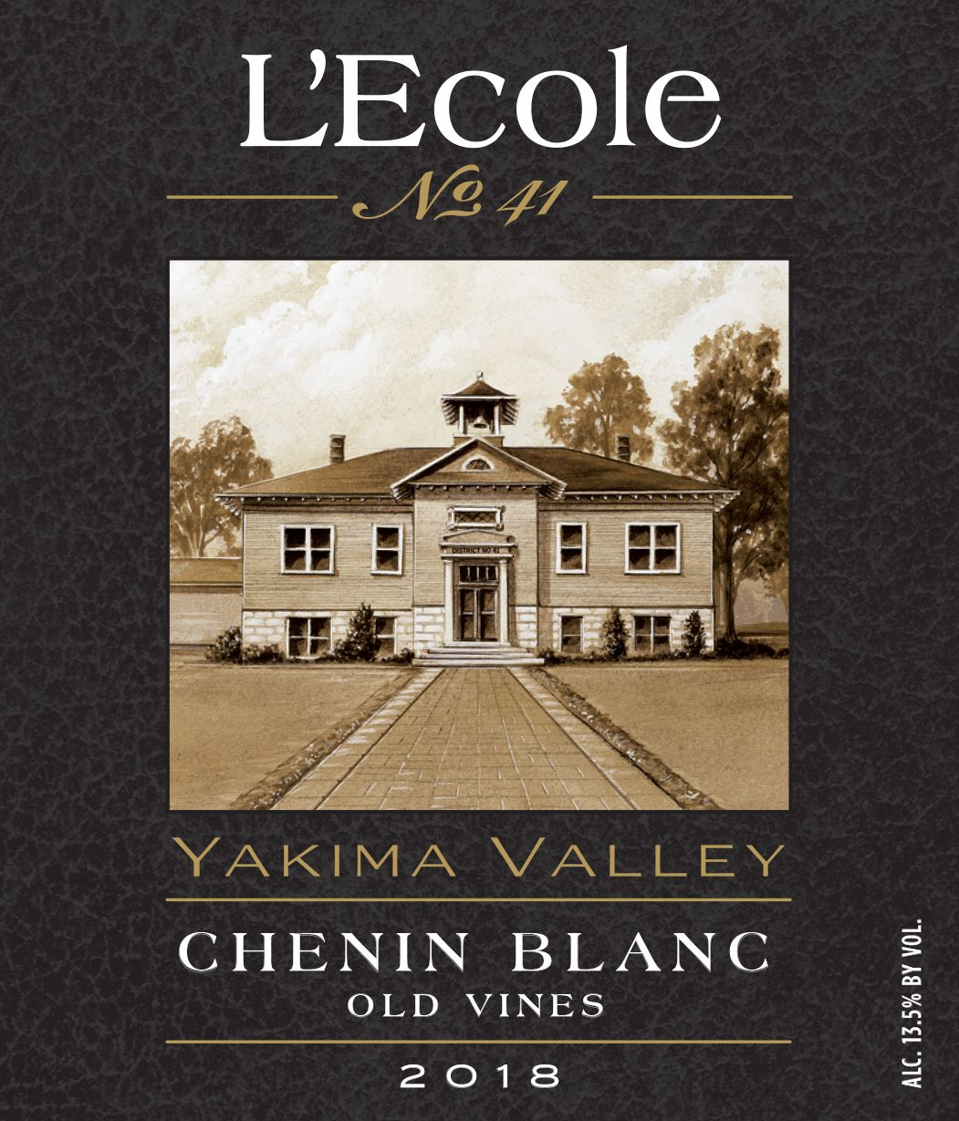 L'Ecole 41 Old Vines Chenin Blanc 2018  Front Label