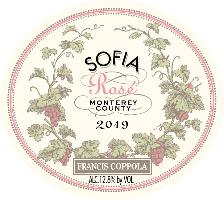 Francis Ford Coppola Sofia Rose 2019  Front Label